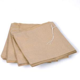 """Brown Kraft Take Away Bags-(12""""x12"""" strung)-1x500"""