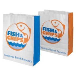 Fish & Chips Greaseproof Lined SOS2 Bags (180x70x230mm) 1x250