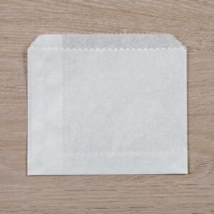 """White Paper Gusset Chips Bags (4""""x6""""x4"""") 1x1000"""