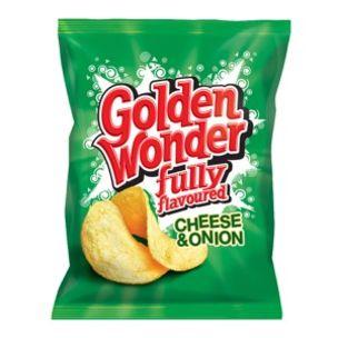 Golden Wonder Cheese & Onion Crisps-48x32.5g