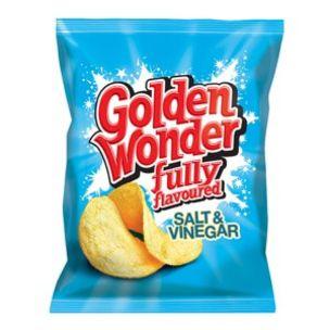 Golden Wonder Salt & Vinegar Crisps-48x32.5g