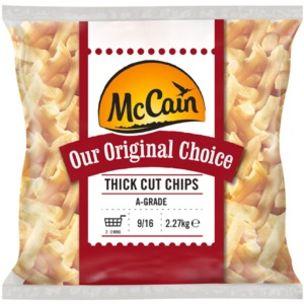McCain Original Choice 9/16 Thick Cut Chips-4x2.27kg
