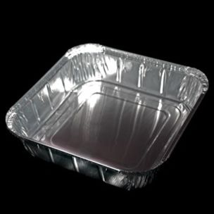 """No:9 Foil Containers (9""""x9""""x2"""")-1x200"""