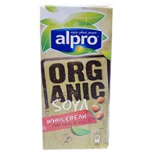Organic Alpro (Unsweetened) Soya Milk-1x1L