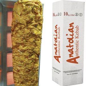 Anatolian Halal Traditional Chicken Doner Kebab-(22 lb)-1x10kg