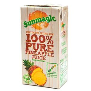 Sunmagic 100% Pure Pineapple Juice-24x200ml