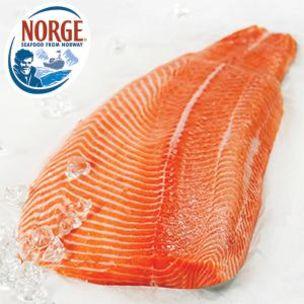 Frozen Norwegian Whole Skinless&Boneless Salmon Fillet (Price/Kg) Pack App. 2kg