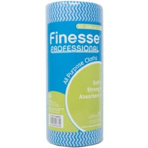 Finesse 100 All Purpose Cloth On A Roll Blue-1x1