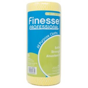 Finesse 100 All Purpose Cloth On A Roll Yellow-1x1