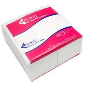 Wipe-Up Luxury Fold White Serviettes (2Ply & 40cm & 1/8 Fold) 16x125
