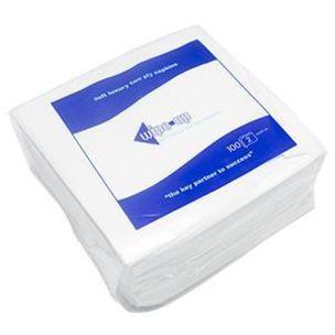 Wipe-Up Luxury White Serviettes (2Ply & 33cm) 20x100
