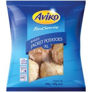 Aviko Baked Frozen Jacket Potatoes (10-12oz)-1x24