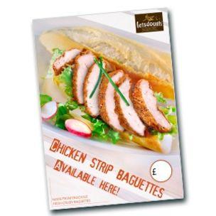 Poster-Chicken Strip Baguette Poster