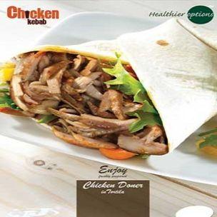 Poster-Healthier Options Chicken Doner InTortilla