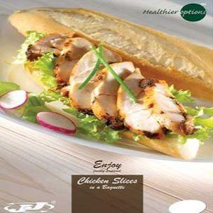 Poster-Healthier Options Chicken Slices in Baguette