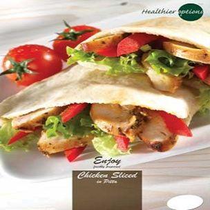 Poster-Healthier Options Chicken Slices in Pitta