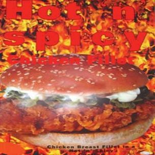 Poster-Hot & Spicy Halal Chicken Fillets