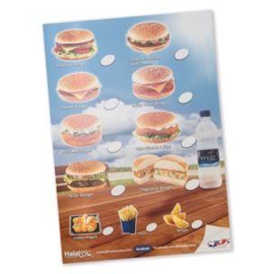 Poster-Various Burger & Menu Poster