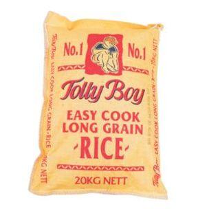 Tolly Boy Easy Cook Long Grain Rice (Yellow Bag)-1x20kg