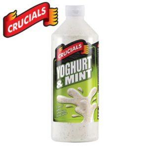 Crucials Yoghurt & Mint Sauce (Bottle)-6x1L