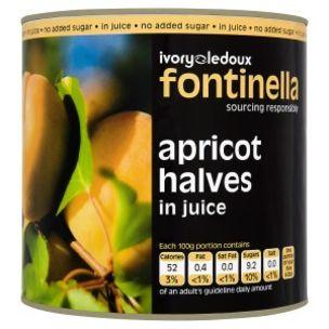 Fontinella Apricot Halves in Juice-1x2.5kg