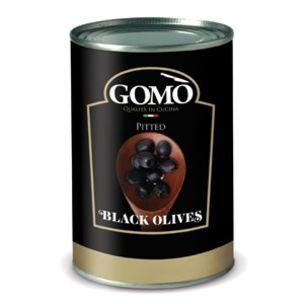 Gomo Pitted Black Olives-1x4.15kg