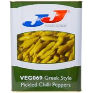 JJ Greek Pickled Peppers (Tursu in Tin)-1x12.5kg