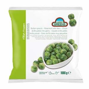 Greens Frozen Button Sprouts (Bags)-1x1kg