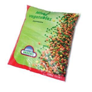 Greens Frozen Mix Vegetables (Bags)-1x2.5kg