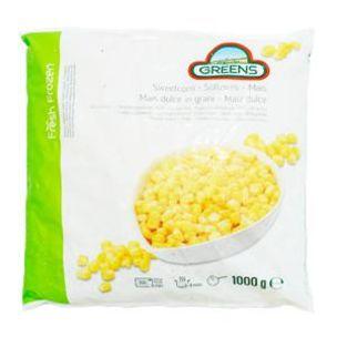 Greens Frozen Sweetcorn Kernels (Bags)-1x1kg