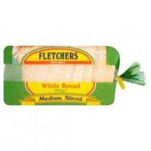Fletchers Medium Sliced White Sandwich Bread (Frozen) -8x800g