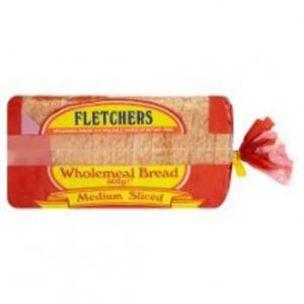 Fletchers Medium Sliced Wholemeal Sandwich Bread (Frozen)-8x800g