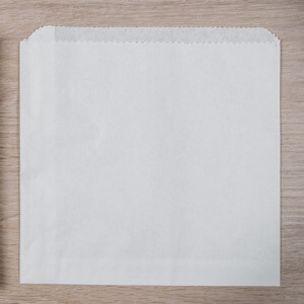 """White Paper Take Away Bags (5""""x5"""" unstrung) 1x1000"""
