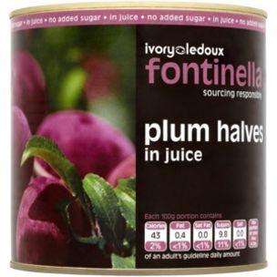 Fontinella Plum Halves In Juice-1x2.6kg