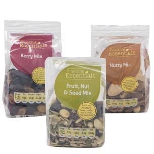 Snacking Essentials Natural Mixed Case (Dried Fruit & Nuts)-12x100g