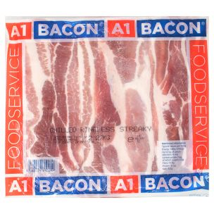 A1 Rindless Streaky Bacon-1x2.27kg