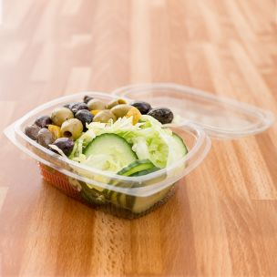Fresco Oval Salad Containers (375 ml)-1x500