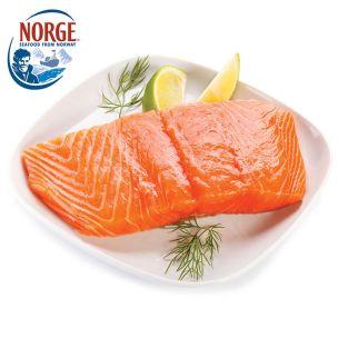 Frozen Norwegian Skinless & Boneless IQF Salmon Portions (5-6oz)-1x10