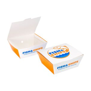 """Fish & Chips Chip Boxes (5.5""""x5x2.5"""")-1x300"""