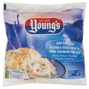 Young's MSC Pink Salmon and Alaskan Pollock Pieces-1x900g