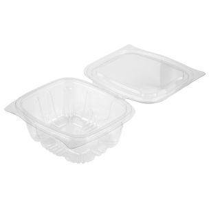 New Leaf Hinged Salad Container (500ml)-1x400