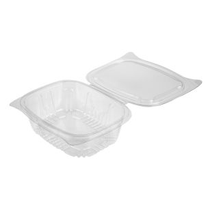 New Leaf Hinged Salad Container (750ml)-1x500