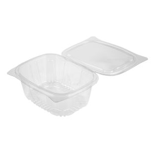New Leaf Hinged Salad Container (1000ml)-1x400