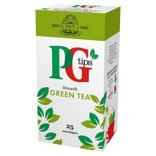 PG Tips Smooth Green Tea Enveloped Bags-6x25