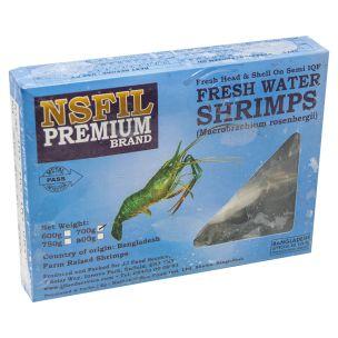 NSFIL Premium Semi IQF Raw HOSO Fresh Water King Prawns ( 2/4) (700g net)- 1x1Kg