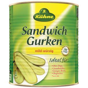 Kuhne Gherkin Sandwich Slices-1x2.9kg