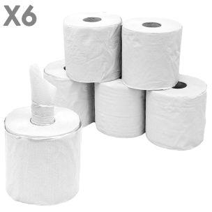 2 Ply Centrefeed White Rolls (17cmx100m)-1x6