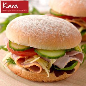 "Kara 4"" Sandwich Floured Baps-48x50g"