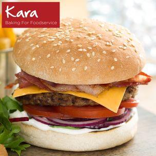 """Kara 4.5"""" Seeded Burger Buns-1x48"""