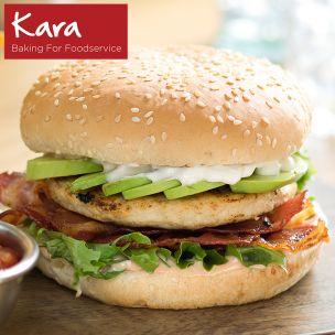 """Kara 5"""" Seeded Burger Buns-1x48"""